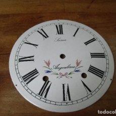 Recambios de relojes: ESFERA DE PORCELANA PARA RELOJ MOREZ DE PESAS- LOTE 243- 25 CM DIAMETRO. Lote 193682721