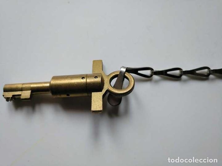 Recambios de relojes: LLAVE DE RELOJ DE GUARDA, VIGILANTE O SERENO - KEY WATCHMAN´S CLOCK - Foto 25 - 193918763