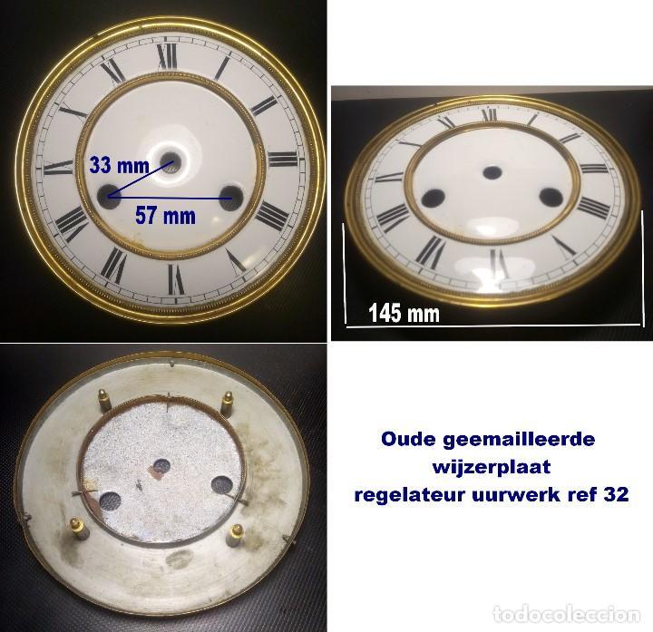 ESFERA ANTIGUA ESMALTADA, PARA REGULADOR, REF 32 (Relojes - Recambios)