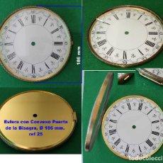 Recambios de relojes: ESFERA CON PUERTA DE VIDRIO CONVEXO, PARA RELOJ, REF 25. Lote 194107645