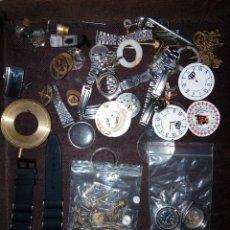 Recambios de relojes: LOTE PIEZAS PARA RELOJES DE BOLSILLO,PULSERA,TIJAS,CORONAS MECANICOS Y QUARZOS. Lote 194216947