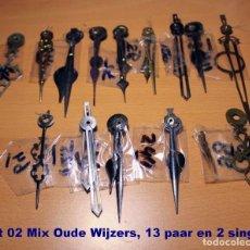 Recambios de relojes: LOTE 02, MEZCLE 13 PARES DE AGUJAS VIEJAS Y 2 INDIVIDUALES.. Lote 194366192