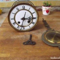 Recambios de relojes: ANTIGUA MAQUINARIA ALEMANA PARA RELOJ ALFONSINO-AÑO 1880- FUNCIONA-LOTE 245. Lote 194369893