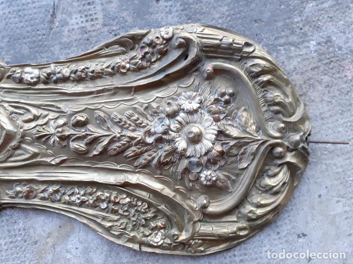 Recambios de relojes: Péndulo o péndola en latón repujado para reloj Morez - Foto 2 - 194509425