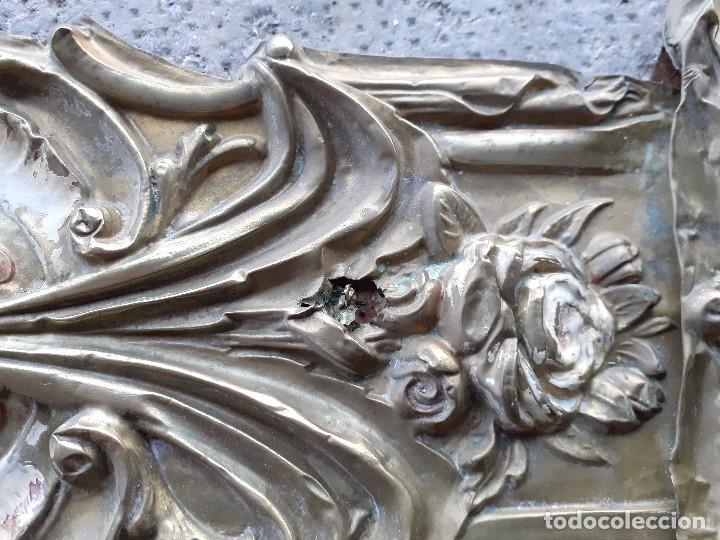 Recambios de relojes: Péndulo o péndola en latón repujado para reloj Morez - Foto 7 - 194509425