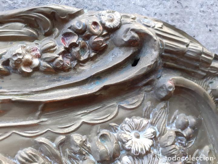 Recambios de relojes: Péndulo o péndola en latón repujado para reloj Morez - Foto 8 - 194509425