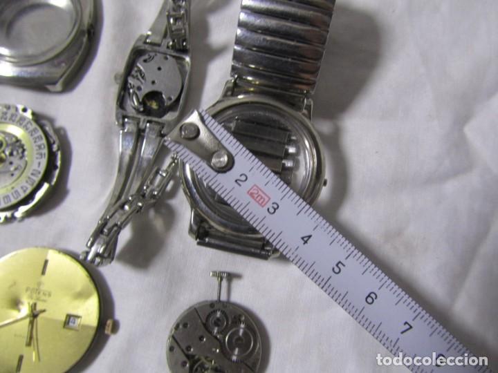 Recambios de relojes: Lote de cajas y mecanismos de reloj para piezas - Foto 3 - 194517131