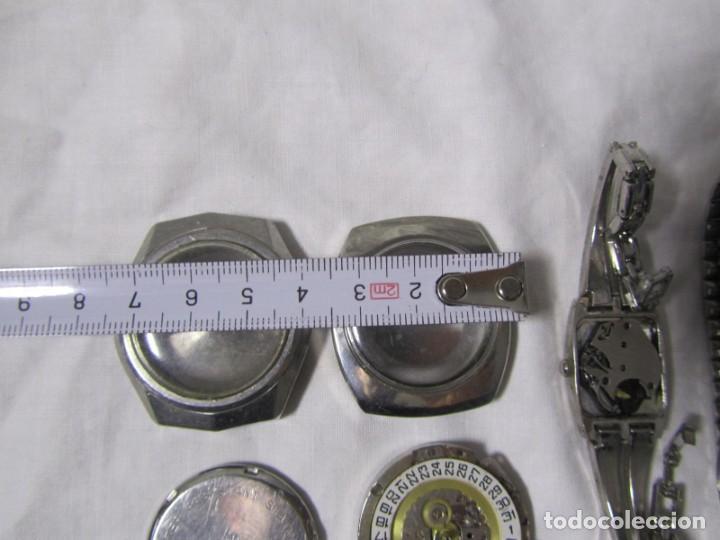 Recambios de relojes: Lote de cajas y mecanismos de reloj para piezas - Foto 4 - 194517131