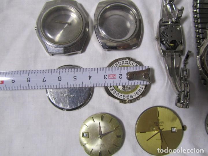 Recambios de relojes: Lote de cajas y mecanismos de reloj para piezas - Foto 5 - 194517131