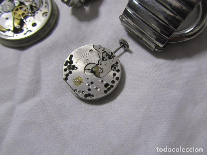 Recambios de relojes: Lote de cajas y mecanismos de reloj para piezas - Foto 7 - 194517131