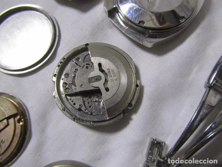 Recambios de relojes: Lote de cajas y mecanismos de reloj para piezas - Foto 10 - 194517131