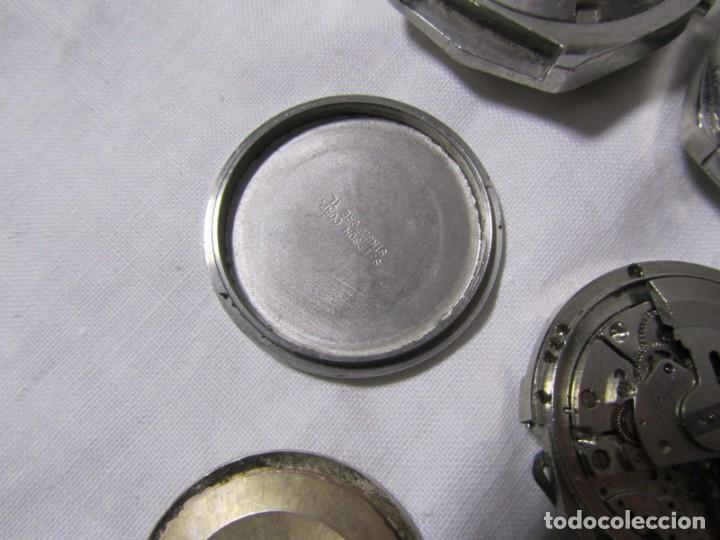Recambios de relojes: Lote de cajas y mecanismos de reloj para piezas - Foto 11 - 194517131