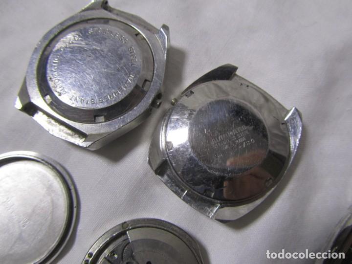 Recambios de relojes: Lote de cajas y mecanismos de reloj para piezas - Foto 12 - 194517131