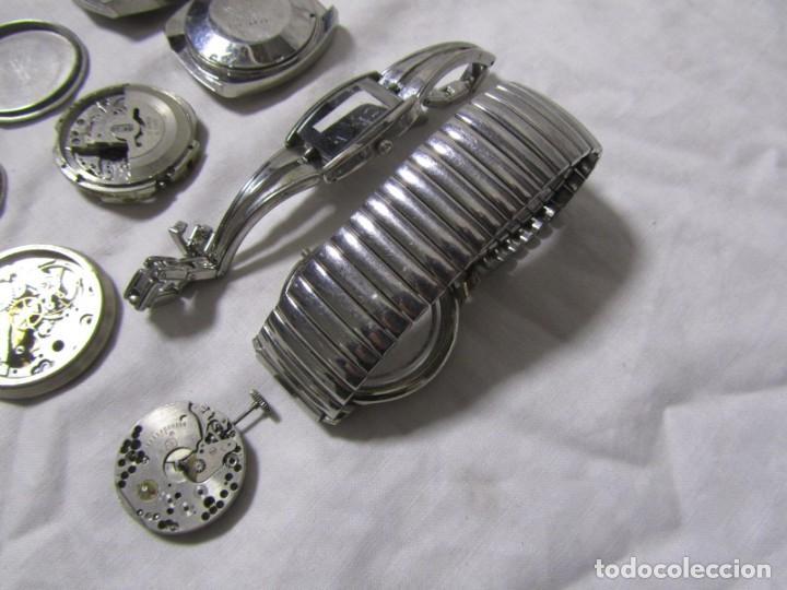 Recambios de relojes: Lote de cajas y mecanismos de reloj para piezas - Foto 14 - 194517131