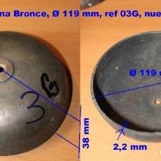 Recambios de relojes: CAMPANA DE BRONCE Ø 119 MM PARA RELOJ MOREZ, 03G. Lote 194550456