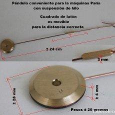 Recambios de relojes: PÉNDULO MAQUINA PARIS, NUEVO REF B. Lote 194564155