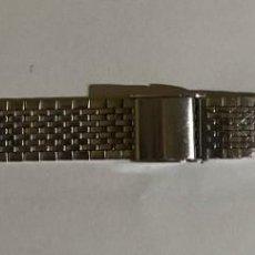 Recambios de relojes: PULSERA DE ACERO INOX 170 M/M. MAX REGULABLE - ANCHO 18 M/M .. Lote 194624645