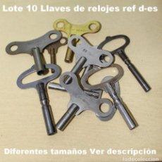 Recambios de relojes: LOTE D, LLAVES DEL RELOJ (10 PIEZAS) VER TAMAÑOS A CONTINUACIÓN.. Lote 194628301