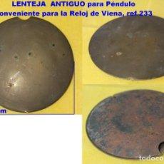 Recambios de relojes: ANTIGUO LENTEJA DE PÉNDULO REGULADORES VIENÉS / HÚNGARO. REF 233. Lote 194650938