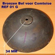 Recambios de relojes: CAMPANA DE BRONCE Ø 122 MM PARA RELOJES COMTOISE, 01G. Lote 194651240