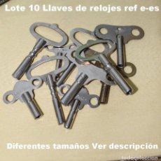 Recambios de relojes: LOTE E, LLAVES DEL RELOJ (10 PIEZAS) VER TAMAÑOS A CONTINUACIÓN.. Lote 194651337