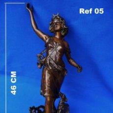 Recambios de relojes: ESCULTURA, NIÑA CON PERRO, PARA EMBELLECER EL RELOJ O LA DECORACIÓN, REF 05.. Lote 194700185