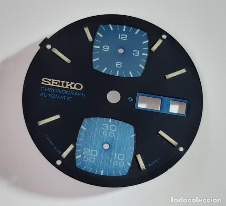 Recambios de relojes: Esfera Seiko 6138-8060 T - Foto 2 - 194873000