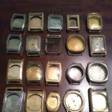 Recambios de relojes: LOTE CAJAS DE RELOJES ANTIGUOS JBB,MB,FG,BATAY,BUREN,RW,MARGA Y OTRAS SIN MARCA. Lote 194957622