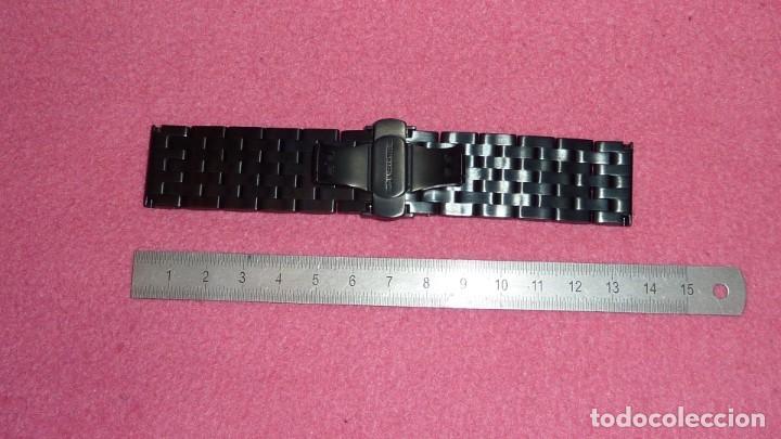 Recambios de relojes: armis de acero macizo 24mm tipo engineer con cierre deployante. nuevo a estrenar - Foto 2 - 195055081