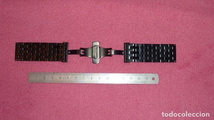 Recambios de relojes: armis de acero macizo 24mm tipo engineer con cierre deployante. nuevo a estrenar - Foto 3 - 195055081