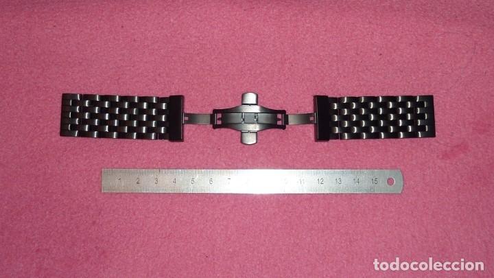 Recambios de relojes: armis de acero macizo 24mm tipo engineer con cierre deployante. nuevo a estrenar - Foto 4 - 195055081