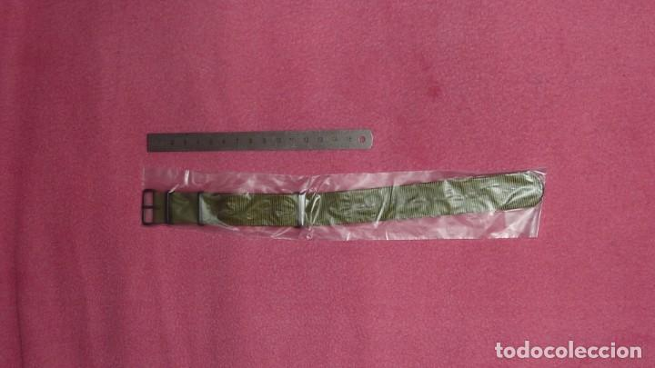 Recambios de relojes: Correa reloj de 22mm tipo NATO en color olive drab – verde militar. Nueva a estrenar. - Foto 4 - 195055348