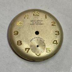 Recambios de relojes: ESFERA GECO WATCH 15 JEWELS - 27,7 M/M.Ø. Lote 195170542