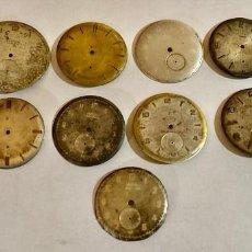 Recambios de relojes: LOTE DE 13 ANTIGUAS ESFERAS . Lote 195303443