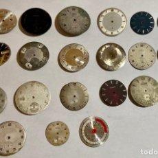 Recambios de relojes: LOTE DE 20 ESFERAS VINTAGE . Lote 195305397