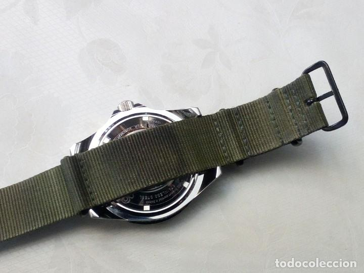 Recambios de relojes: Correa reloj de 22mm tipo NATO en color olive drab – verde militar. Nueva a estrenar. - Foto 8 - 195055348