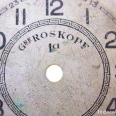 Recambios de relojes: FORNITURA ESFERA GRE ROS KOPF MUY ANTIGUA 36MM PROYECTO RESTAURACION LOTE WATCHE. Lote 195432148