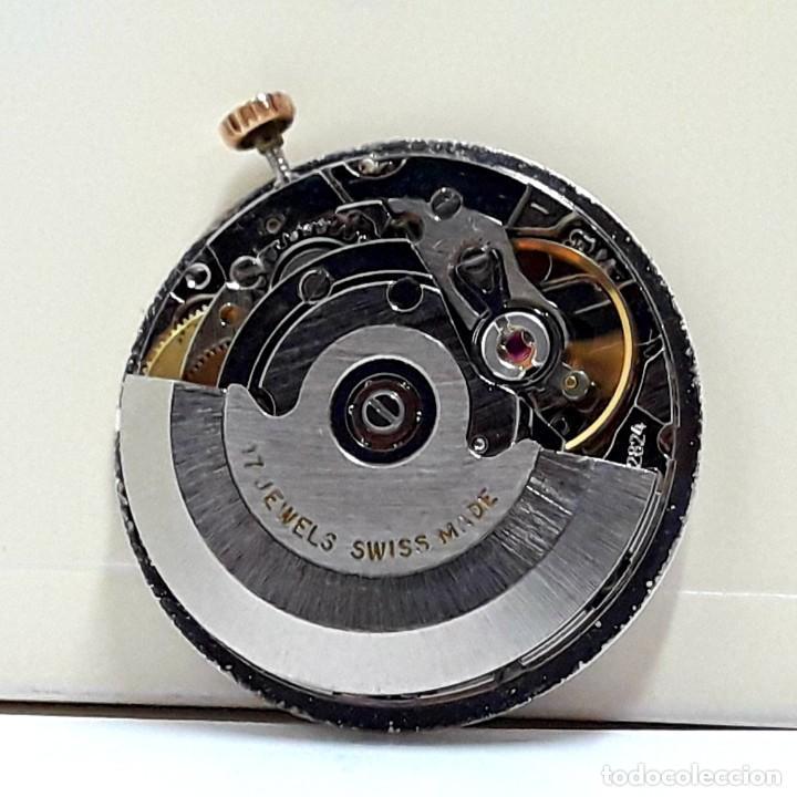 MOVIMIENTO DE RELOJ AUTOMÁTICO COMPLETO CALIBRE ETA 2824 CON ESFERA, AGUJAS Y CORONA Y NUEVO (Relojes - Recambios)