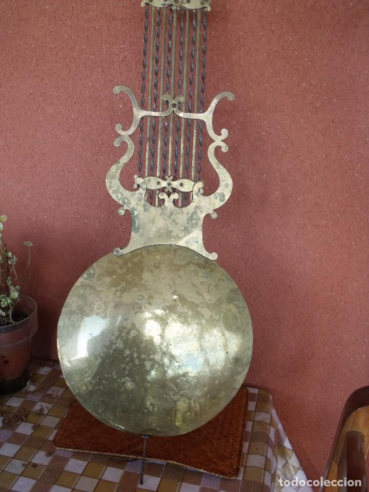 Recambios de relojes: ANTIGUO PENDULO DE LIRA PARA RELOJ MOREZ DE PESAS- LOTE 248-AÑO 1880 - Foto 2 - 196495020