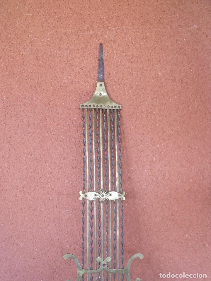 Recambios de relojes: ANTIGUO PENDULO DE LIRA PARA RELOJ MOREZ DE PESAS- LOTE 248-AÑO 1880 - Foto 3 - 196495020