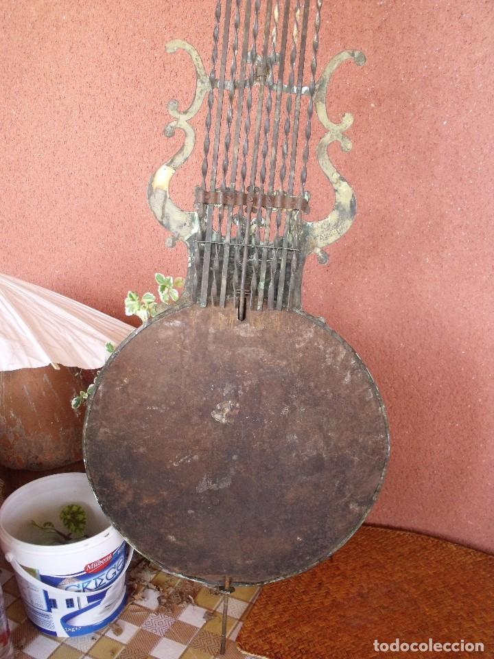 Recambios de relojes: ANTIGUO PENDULO DE LIRA PARA RELOJ MOREZ DE PESAS- LOTE 248-AÑO 1880 - Foto 5 - 196495020