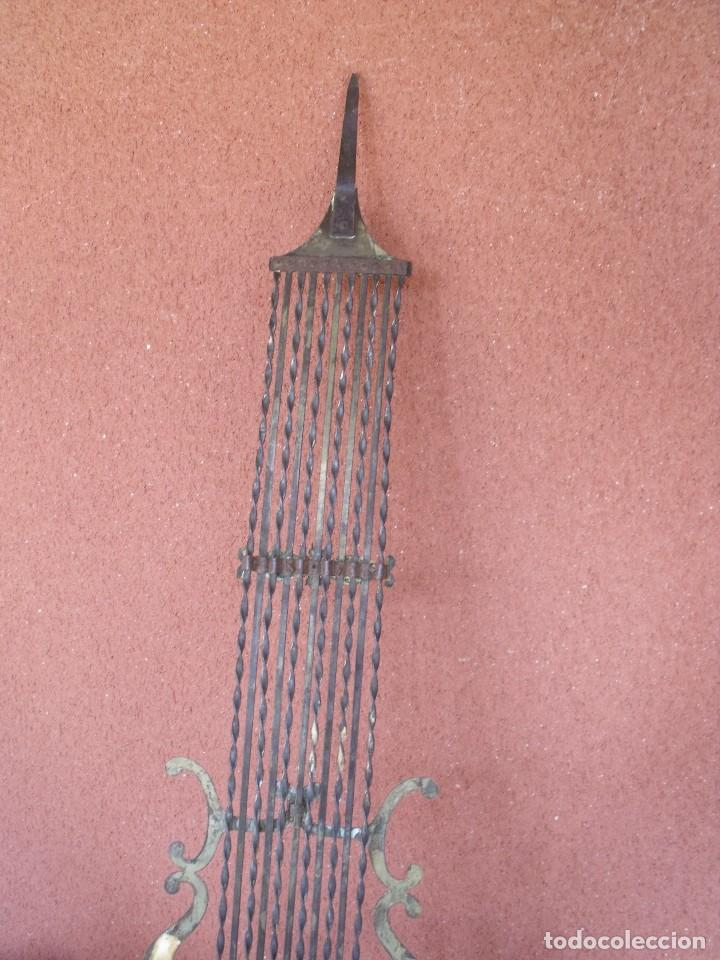 Recambios de relojes: ANTIGUO PENDULO DE LIRA PARA RELOJ MOREZ DE PESAS- LOTE 248-AÑO 1880 - Foto 6 - 196495020