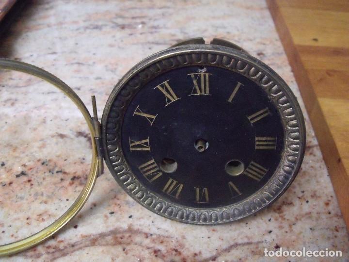 Recambios de relojes: Antigua maquinaria Paris para reloj sobremesa-año 1870- para restaurar o piezas- lote 252 - Foto 2 - 197083330