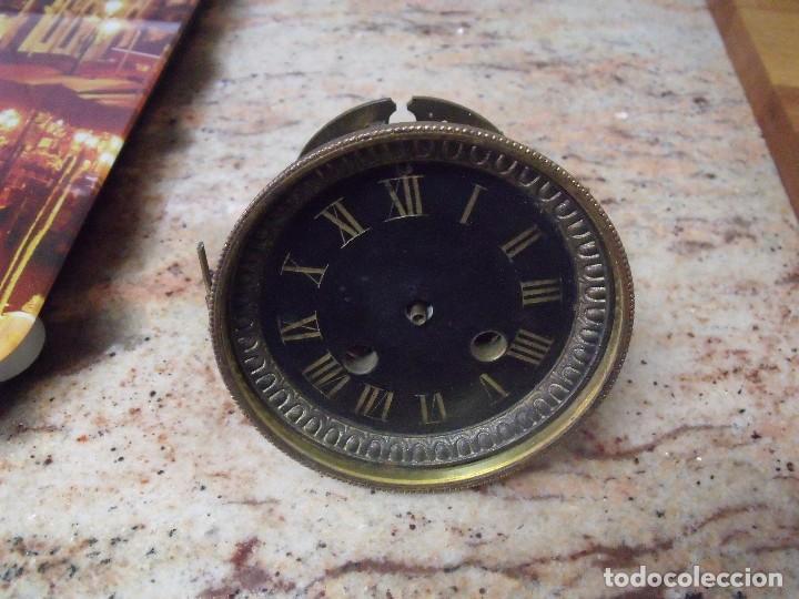 Recambios de relojes: Antigua maquinaria Paris para reloj sobremesa-año 1870- para restaurar o piezas- lote 252 - Foto 3 - 197083330