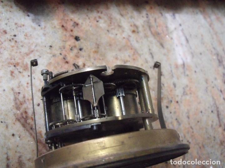 Recambios de relojes: Antigua maquinaria Paris para reloj sobremesa-año 1870- para restaurar o piezas- lote 252 - Foto 4 - 197083330