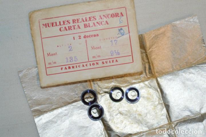Recambios de relojes: LOTE DE MUELLES / RESORTES ANTIGUOS RELOJES - FORNITURAS - SWISS MADE - ¡HAZ UNA OFERTA! - LOTE 28 - Foto 5 - 199158472