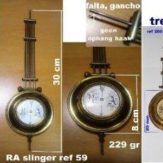Recambios de relojes: LOTE DE 3 PÉNDULOS ANTIGUOS PARA RELOJES DE PARED, REF 02. Lote 200032252