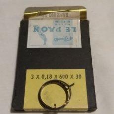Recambios de relojes: CAJA DE MUELLES REALES, RESSORTS 3X0,18X600X30 PRECIO DE LA CAJA CON 10 UNIDADES.. Lote 201272556