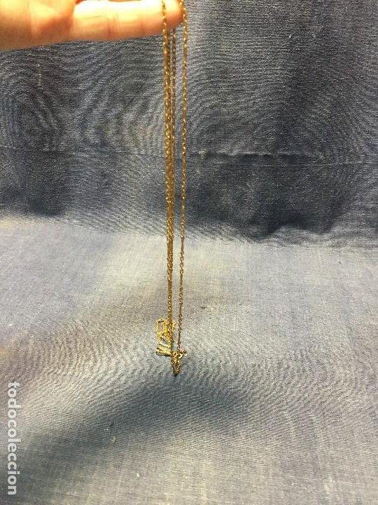 Recambios de relojes: cadena para lupa leontina reloj chaleco metal dorado chapeado 68cms mitad s xx - Foto 2 - 201479717