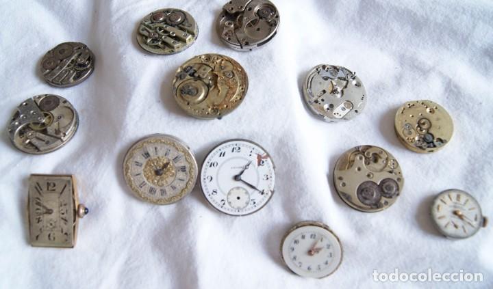 LOTE DE CALIBRES O MAQUINAS RELOJ BOLSILLO Y PULSERA ANTIGUOS AÑOS 1880-1950 R6 (Relojes - Recambios)